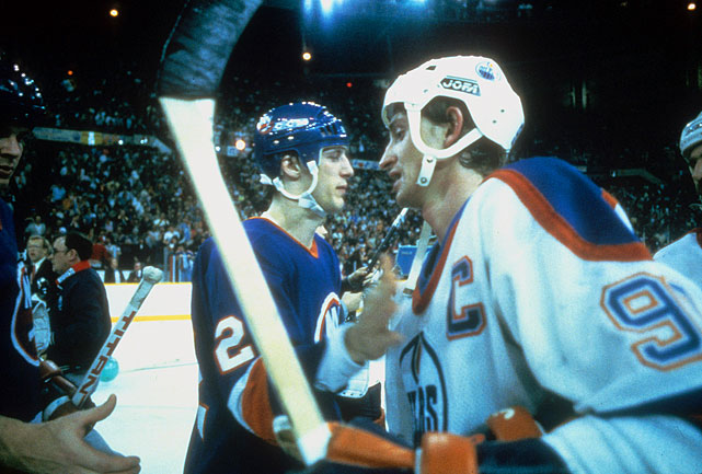 Their Drive for Five over, sniper Mike Bossy and the Isles' dynasty gave way to Wayne Gretzky's Oilers.