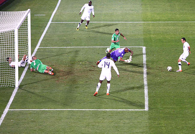 The moment preceding Landon Donovan's go-ahead goal against Algeria and Ian Darke's classic call.