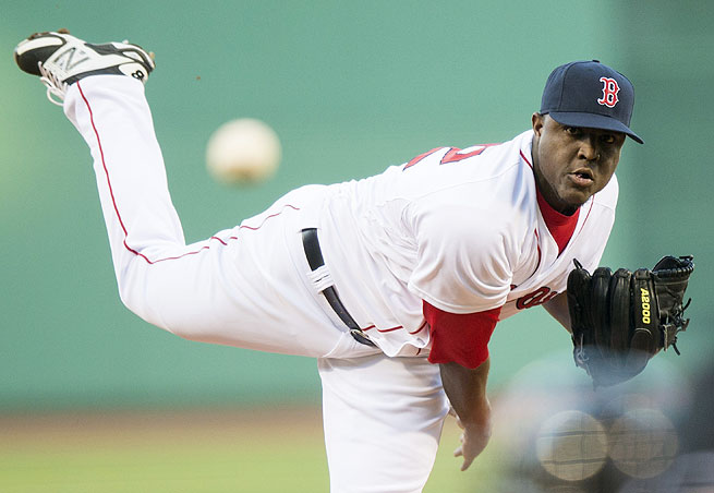 Rubby De La Rosa impressed in his first major league start since 2010, striking out eight over seven scoreless innings in a Red Sox victory.