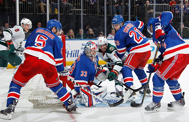 With Henrik Lundqvist still struggling despite his new deal, and their disappointing nine-game homestand nearing its end, the Rangers caught a spark when rookie backup goalie Cam Talbot started against Minnesota on Dec. 22 and produced a solid 24-save effort in a 4-1 win. The Blueshirts then took off on 16-6-1 run, with Talbot playing well in occasional starts and the team's power play coming alive. By the Olympic break in early February, the Rangers would own a more than respectable 32-24-3 mark.