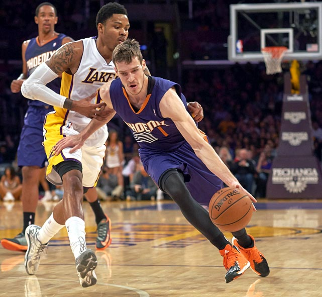 <bold>1st Team Votes: 1 | Points: 115</bold> <bold>20.3 points | 5.9 assists | 3.2 rebounds | 1.4 steals</bold> Dragic became the first guard to average at least 20 points while shooting over 50 percent from the field and 40 percent from three-point range since Drazen Petrovic in 1992-93.