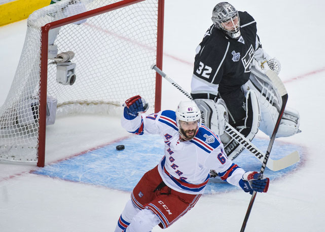 Benoit Pouliot put the Rangers on the scoreboard first.