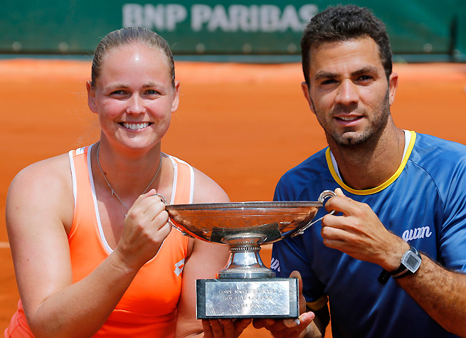 Jean-Julien Rojer and Anna-Lena Groenefeld won their first mixed doubles title together.