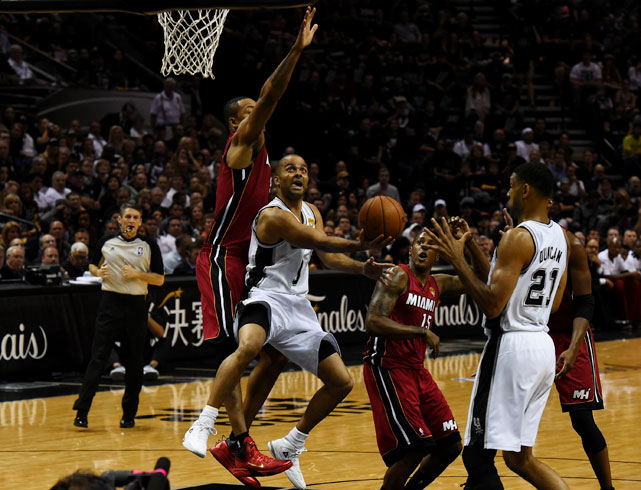 The Spurs are trying to atone for a disappointing end to last year's finals, when the Heat rallied from five points down in the final half-minute of regulation to win Game 6 in overtime, then won a Game 7 that was close the whole way for their second straight championship.