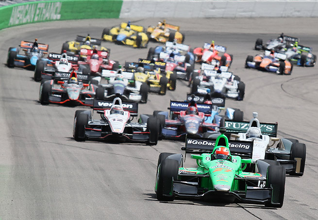 IndyCar cited a competitive disadvantage as its reasoning for eliminating double-file restarts.