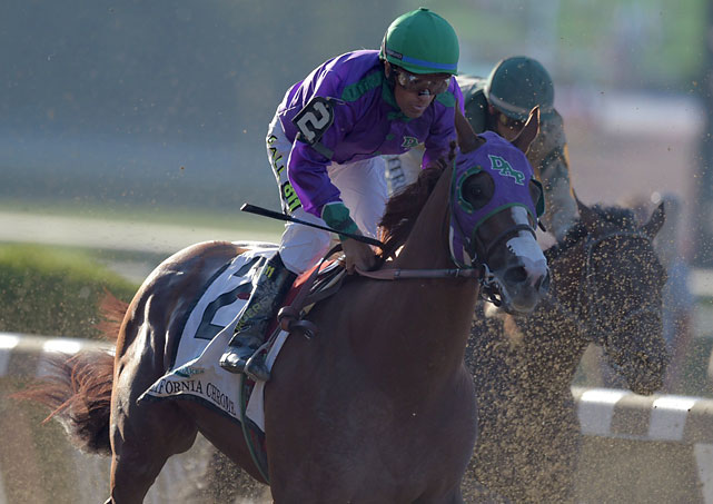 But Espinoza held California Chrome back behind early leaders Commissioner and General a Rod, who set soft early fractions of 24.06 and 48.52.