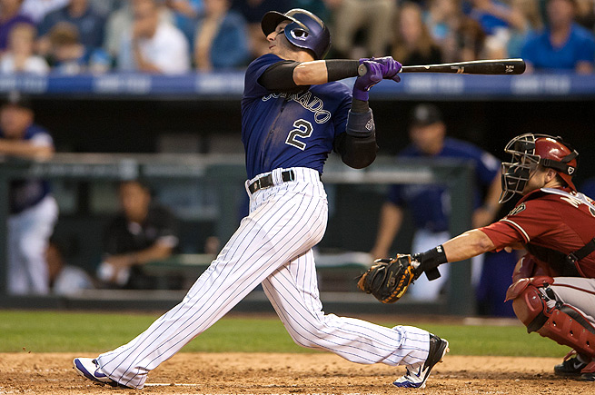 Troy Tulowitzki is on track for his best season yet, hitting .361 with 17 home runs and 42 RBI so far.