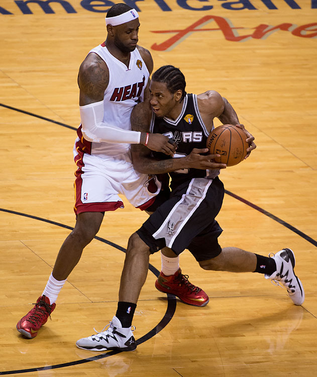SI's best photos from Game 3 of the NBA Finals, in which the San Antonio Spurs handed the Miami Heat their first home loss of this year's playoffs. Kawhi Leonard (pictured) scored a career-high 29 points, and the Spurs made a finals-record 75.8 percent of their shots in the first half.