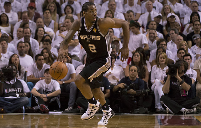 Kawhi Leonard scored only 18 points in the first two games, looking frustrated while getting into foul trouble trying to defend LeBron James in Game 2. But he had his outside shot working early, making his first six shots and finishing 10 of 13 from the field.