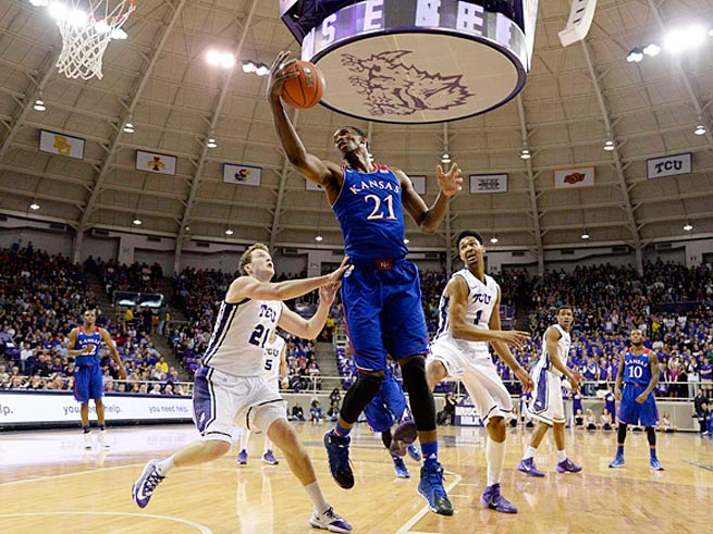 Center Joel Embiid averaged 11.2 points, 8.1 rebounds and 2.6 blocks as a freshman at Kansas.