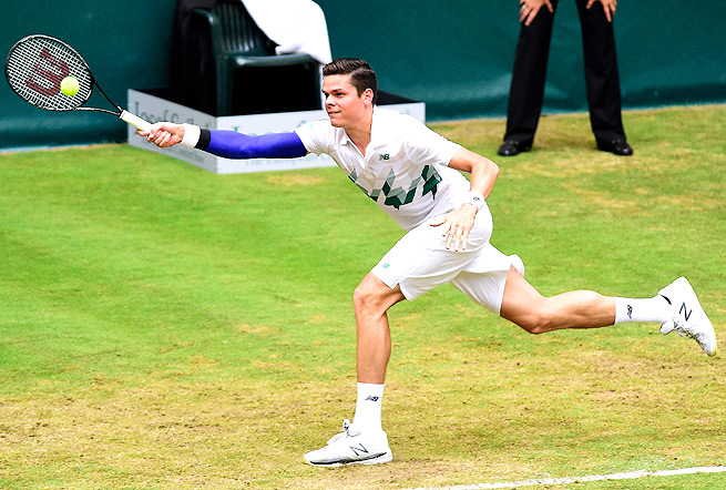 Milos Raonic was ousted from the Gerry Weber Open by No. 120-ranked Peter Gojowczyk.