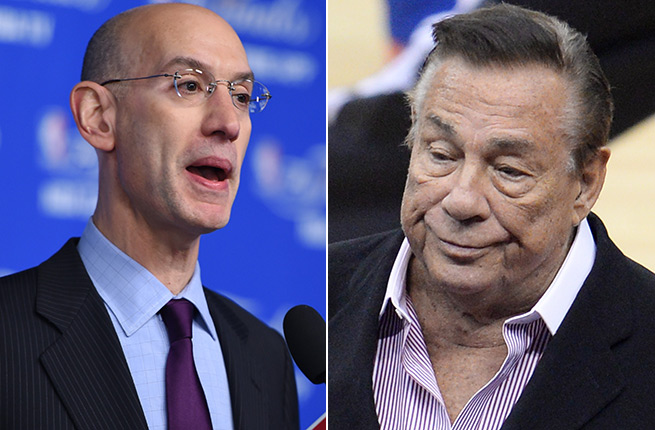 Adam Silver (left) and the NBA can still oust Donald Sterling from the Clippers without a legal victory.