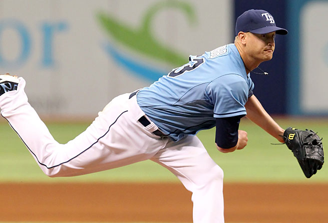 Alex Cobb is 1-4 with a 4.39 ERA and has made just seven starts this season for Tampa Bay because of an oblique injury.