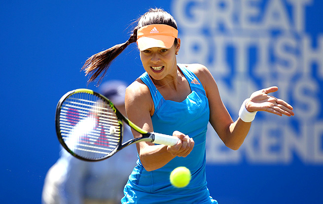Ana Ivanovic rolled over Klara Koukalova 6-1, 6-4 to reach the semifinals of the Aegon Classic.