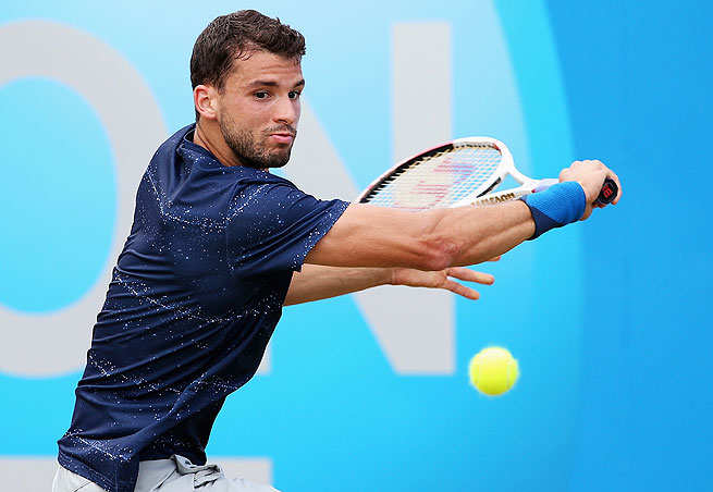 Bulgarian Grigor Dimitrov will play for his third title of the year on Sunday at The Queen's Club.