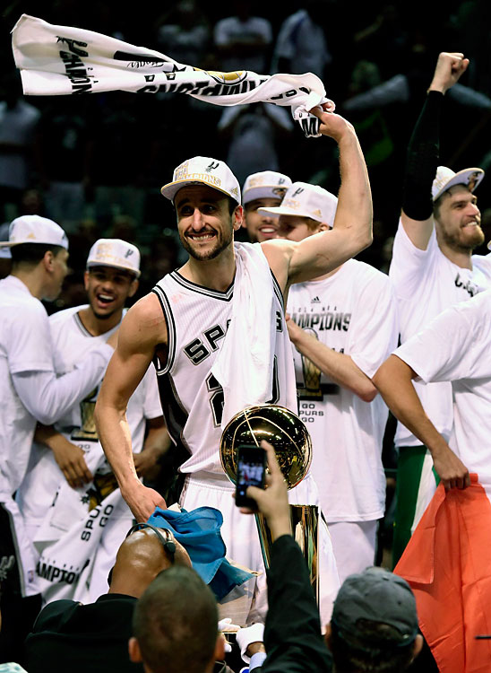 Ginobili helped the Spurs' bench outscore Miami's 47-24 in Game 5.