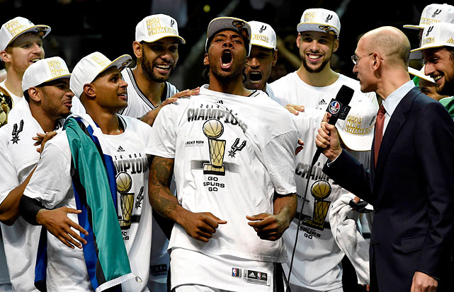 Kawhi Leonard was named the MVP. He had had 22 points and 10 rebounds Sunday night.