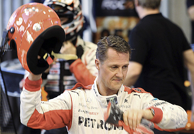 Injured in a skiing mishap last December, Michael Schumacher was feared to be in a permanent coma.