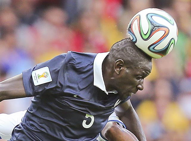 Matters came to a head against Honduras for France's Mamadou Sakho during his Group E World Cup match at the Estadio Beira-Rio in Porto Alegre, Brazil.
