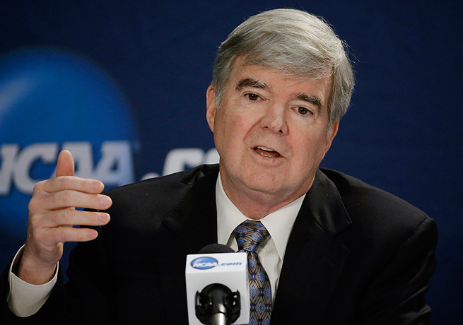 NCAA president Mark Emmert and his organization want to portray college athletes strictly as amateurs.
