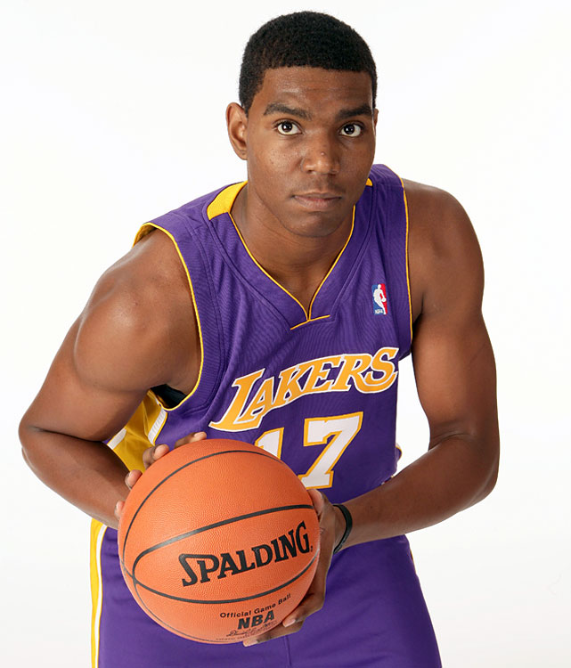 Age: 18 years and 6 days |                                                      Drafted out of high school at 17 and taking the floor for the Los Angeles Lakers at 18, Bynum logged six minutes against the Denver Nuggets and missed both of his shots. He improved and became a big piece for the Lakers before injuries began to hamper his career.