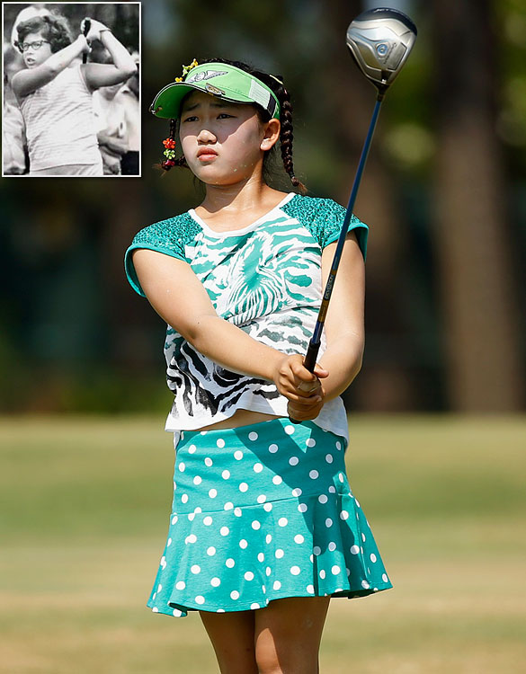 With pigtails and plenty of giggles, Lucy Li just wants to have fun like any 11-year-old girl. Except that Li became the youngest qualifier in U.S. Women's Open history and became the youngest golfer to compete in the Open since 10-year-old Beverly Klass in 1967 (inset).