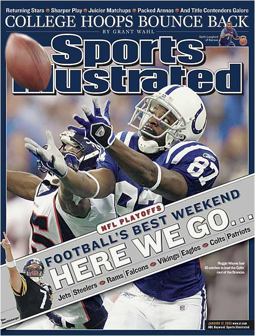 A week after Wayne set a Colts postseason record with 221 receiving yards in a playoff victory over Denver, Indianapolis was held without a touchdown for the first time all season in a 20-3 loss to New England.