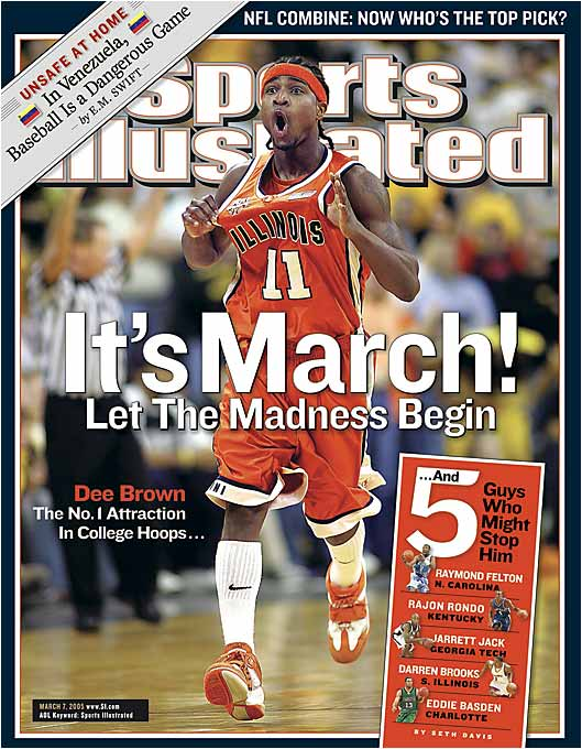 How quick can you say 29-1? Dee Brown and the Illini were 29-0 and trying to become the first major men's college basketball team to go undefeated since Indiana in 1976. Alas, days after the cover hit the newsstands, they lost their final game of the regular season to Ohio State.