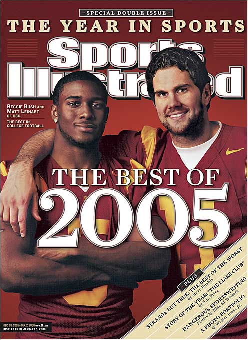 Bush, the 2006 Heisman trophy winner, and Leinart, the 2005 winner, were looking to extend USC's winning streak to 35 games and sew up the school's third consecutive AP national title, but they were denied by Heisman runner-up Vince Young and Texas in the Rose Bowl.