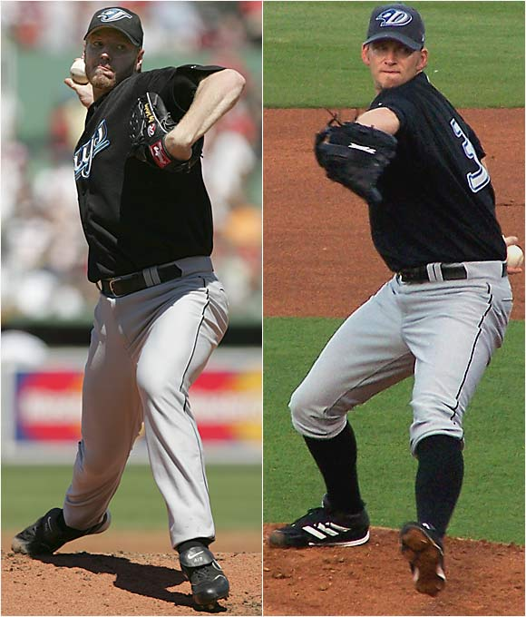 Burnett, a former Marlins hurler, joins 2003 Cy Young winner Halladay atop the Blue Jays' rotation.