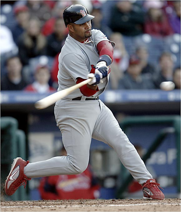 Cardinals superstar Albert Pujols homered twice on Opening Day in Philadelphia.