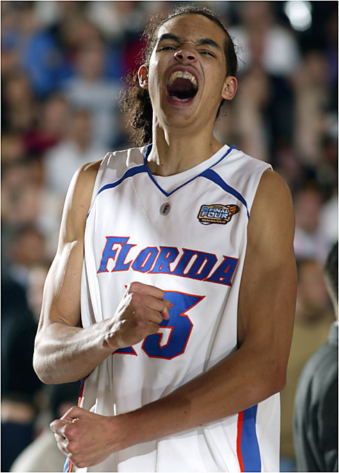 Joakim Noah and the Gators advanced to the national championship game. In the 2000 championship match, also held in Indianapolis, Florida lost to Michigan State.