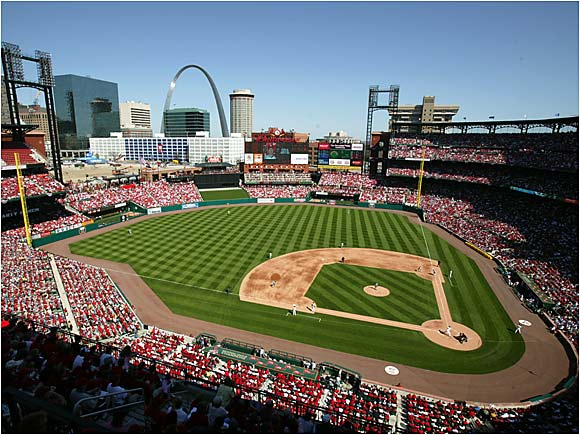 The Cardinals coronated the new Busch Stadium with a 6-4 victory over the Brewers.