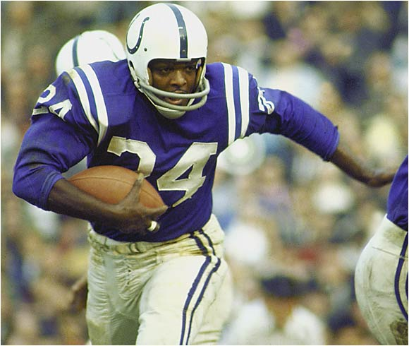 The electric Moore was a huge part of the Colts' three championships in the `50s and `60s and for many years held the record for most straight games with a TD -- 18, which was broken last season by LaDainian Tomlinson. Linebacker Brian Urlacher, the ninth pick in 2000, may take over this spot if his career continues the way it has started.