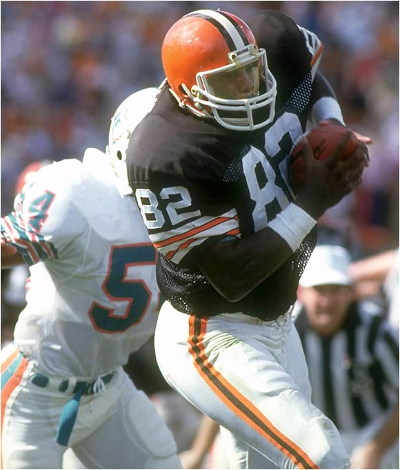 Newsome retired in 1990 with the most catches ever for a tight end (662) and still sits second on that list behind Shannon Sharpe. Newsome helped redefine the tight-end position as a serious receiving threat, paving the way for tight ends like Antonio Gates and Tony Gonzalez.