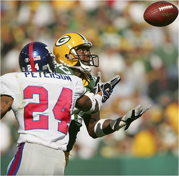 He started out as a track guy, then blossomed into a reliable target for Brett Favre. He's averaged 73 receptions and 1,029 yards over the last four seasons while scoring 28 touchdowns during that time.