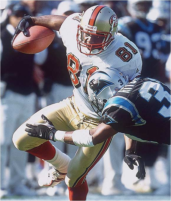 Ignore for a moment the divisive, megalomaniac persona that is T.O. When the 49ers drafted him, he was just Terrell Owens, a shy, unassuming kid who hoped to learn a few moves from Jerry Rice. Looks like he did.