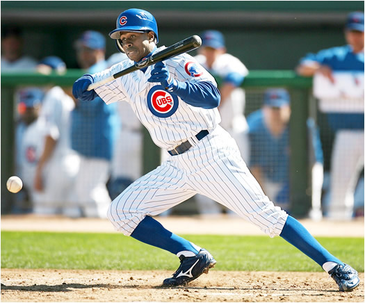 The speedy Pierre stole 57 bases as a Marlin in 2005. Now playing in historic Wrigley Field, he hopes to do the same for the Cubs while also using his speed to patrol the outfield.