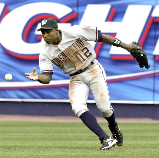 In 2005, Soriano played 2B for the Texas Rangers, but since the Nats already have All-Star Jose Vidro at 2nd, Soriano has moved to left where fielding could be a concern for manager Frank Robinson. In any event, Soriano's speed and power numbers should be a hit with the crowd at RFK Stadium.