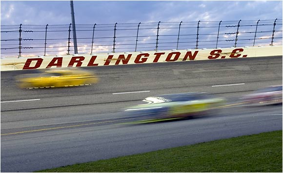 The old-school track at Darlington provided high-speed thrills for Nextel Cup drivers last weekend.