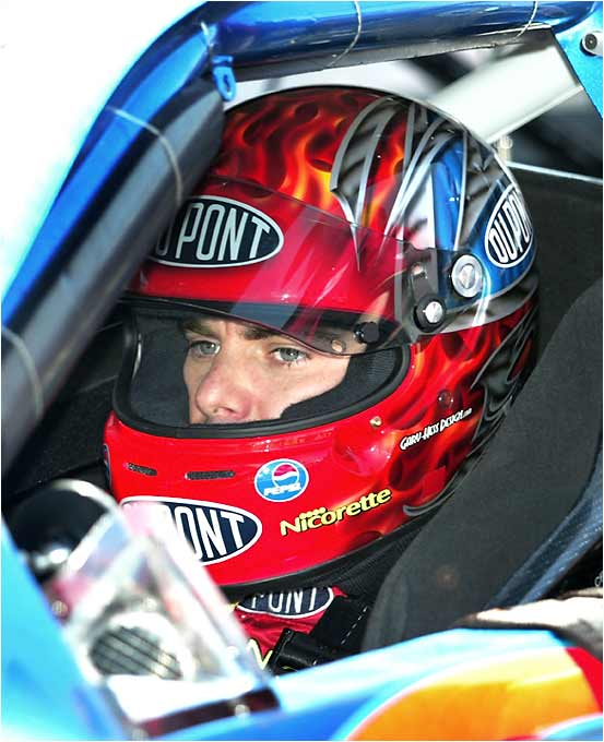 Jeff Gordon prepares to go on a qualifying run at Darlington. Gordon finished second in Saturday's race behind Greg Biffle.