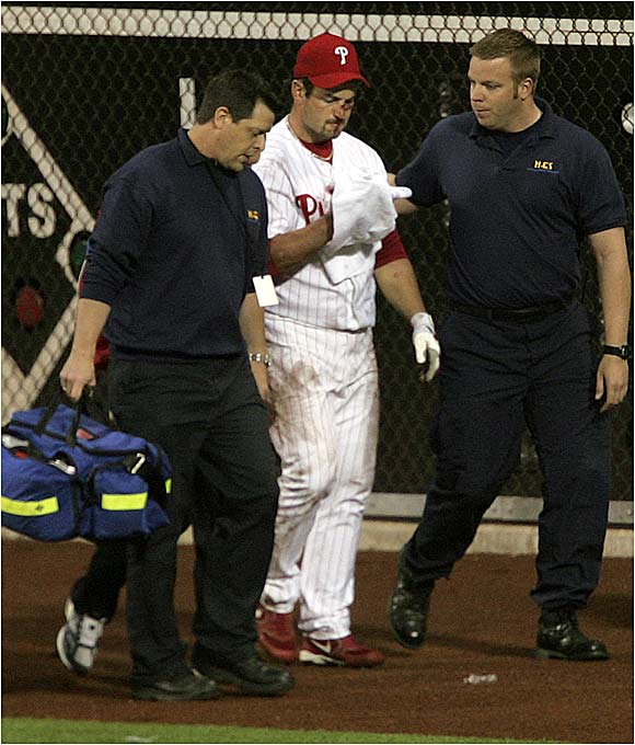 The heroics came at a price, however, as Rowand was placed on the 15-day disabled list with a broken nose and several fractured bones around his left eye.