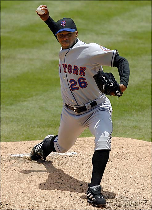 In his debut for the Mets, newly acquired pitcher Orlando Hernandez surrendered three runs on five hits this past Sunday to beat the Marlins.