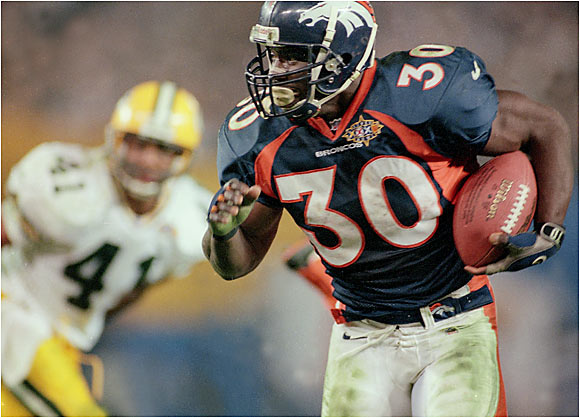 Though the Broncos had Hall of Fame quarterback John Elway, they were a run-first team that couldn't be stopped on the ground. Relying on a highly skilled line, Terrell Davis had 2,008 rushing yards and 21 touchdowns. When the Broncos did pass, they were very efficient, with Elway throwing to sure-handed receivers Rod Smith and Ed McAffrey and tight end Shannon Sharpe. The Broncos won their second consecutive Super Bowl that season by defeating the Falcons.
