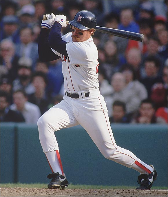Boggs won all five of his batting titles with the Red Sox and is the only player in history with seven consecutive seasons of at least 200 hits and 100 runs. His .338 batting average ranks second in team history to Ted Williams' .344. Boggs was inducted into Cooperstown in 2005.