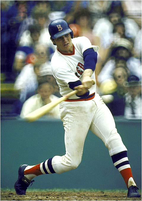 As good as Jason Varitek is now, Fisk was better. In 1972 he was the AL's first unanimous Rookie of the Year after hitting .293 with a league-best nine triples. During his 11-year Boston career, he hit .284 with 162 home runs. The seven-time All-Star was voted into the Hall of Fame in 2000.