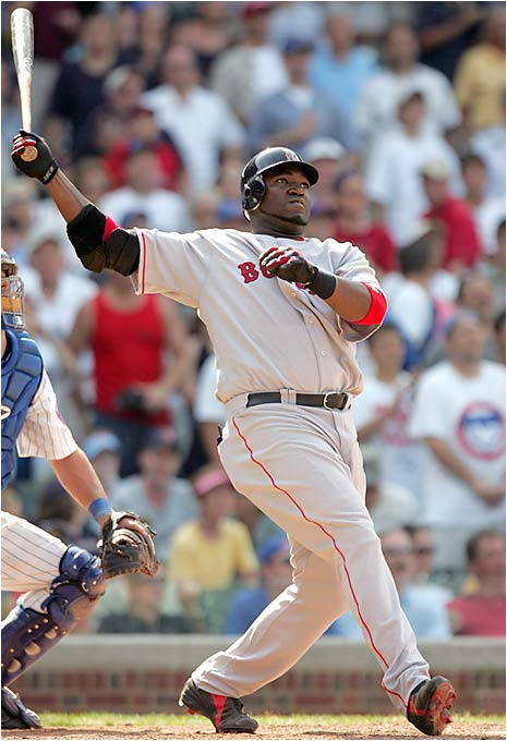 Big Papi has only been with the Red Sox for three-plus seasons, but there is no doubting his contribution: 130 home runs through May 1, 2006, many of which have come in clutch situations.