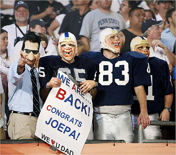 Penn State fans at the Orange Bowl celebrate the Nittany Lions' return to the big time.