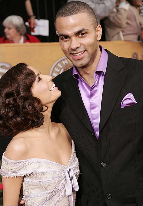 With two NBA championship rings and one trophy girlfriend in 'Desperate Housewives' star Eva Longoria, Tony Parker is on top of the world. The couple announced their engagement in November 2006.