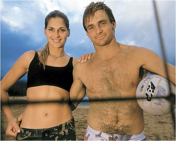 Volleyball legend and model Gabrielle Reece met surfer Laird Hamilton on a surfing trip to Hawaii. The couple has been married since '97 and has one daughter, Reece Viola.